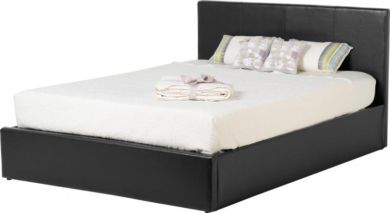 Waverley 5' Storage Bed in Black PU