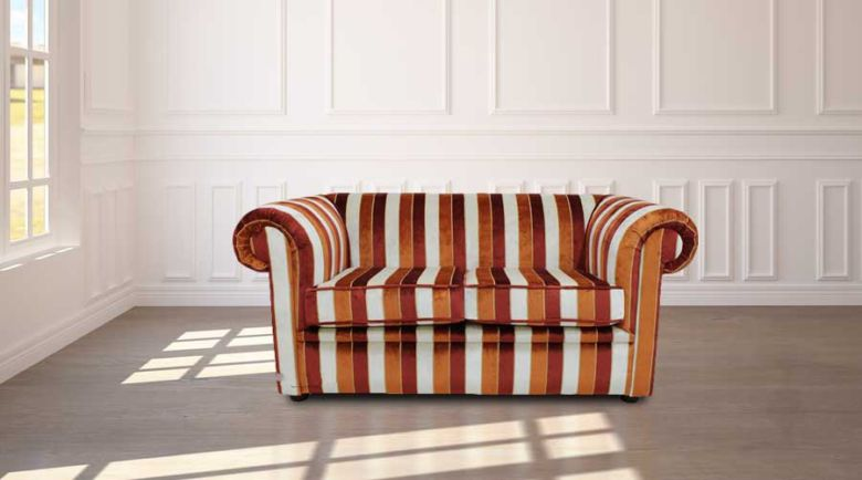 Buy a Striped Velvet Chesterfield Sofa |Fabric Sofa Velvet Chesterfield|DesignerSofas4U