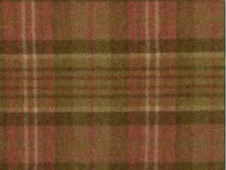 Sandringham Geranium Natural Wool Tweed Fabric