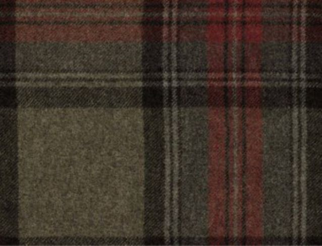 Benningborough Graphite Natural Wool Tweed Fabric