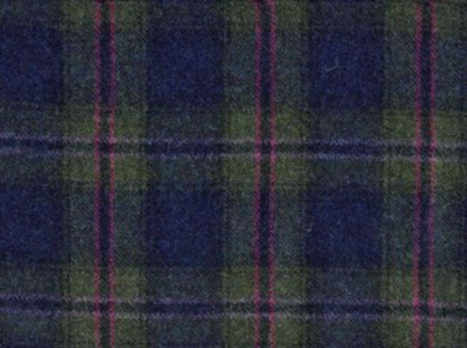 Chatsworth Indigo Natural Wool Tweed Fabric