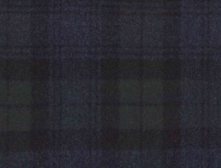 Knebworth Indigo Natural Wool Tweed Fabric