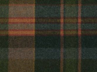 Longleat Indigo Natural Wool Tweed Fabric