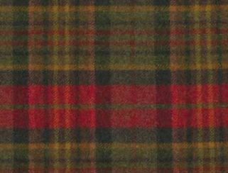 Sandringham Poppy Natural Wool Tweed Fabric