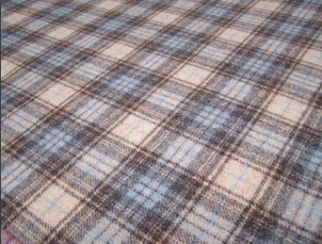 Doune Celestial Natural Wool Tweed Fabric