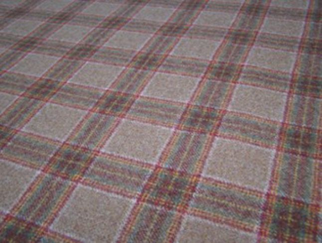 Dornoch Cocoa Natural Wool Tweed Fabric