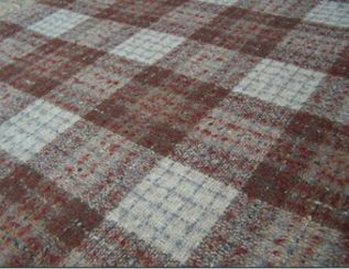 Fyvie Cocoa Natural Wool Tweed Fabric