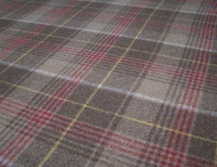 Huntingtower Cocoa Natural Wool Tweed Fabric