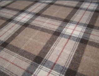 Skye Cocoa Natural Wool Tweed Fabric