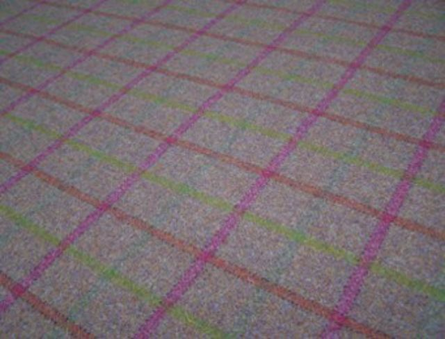 Balvaird Grape Natural Wool Tweed Fabric