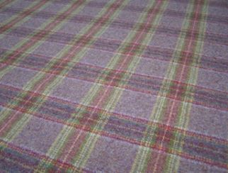 Dornoch Grape Natural Wool Tweed Fabric