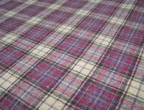 Doune 100% Natural Wool Tweed Fabric