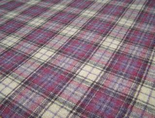 Doune Grape Natural Wool Tweed Fabric