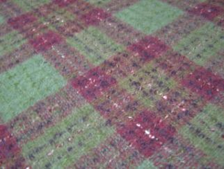 Fyvie Grape Natural Wool Tweed Fabric