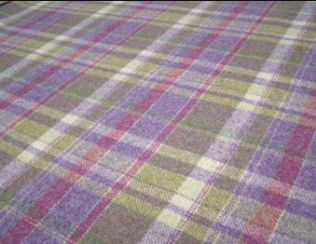 Gosford Grape Natural Wool Tweed Fabric