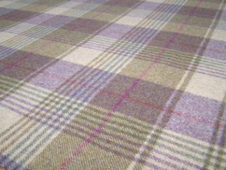 Huntingtower Grape Natural Wool Tweed Fabric