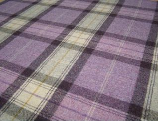 Skye Grape Natural Wool Tweed Fabric