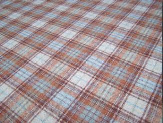 Doune Rust Natural Wool Tweed Fabric