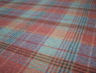 Huntingtower Rust Natural Wool Tweed Fabric