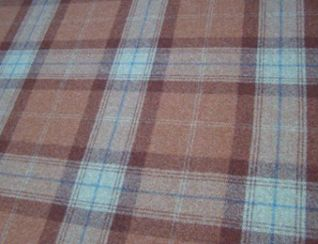 Skye Rust Natural Wool Tweed Fabric