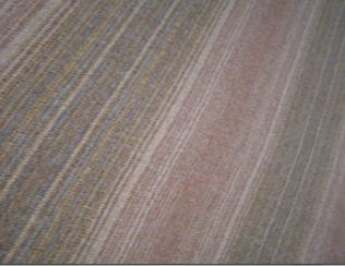 Tioram Rust Natural Wool Tweed Fabric