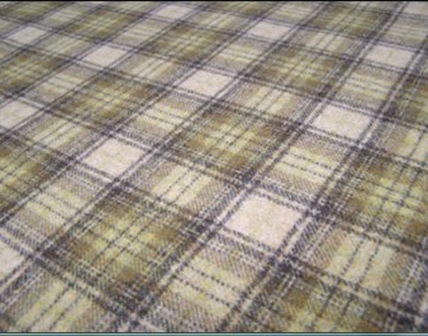 Doune Sage Natural Wool Tweed Fabric