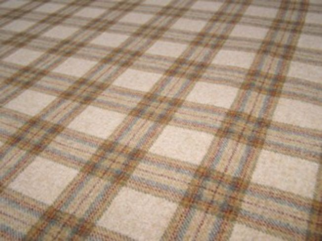 Dornoch Sand Natural Wool Tweed Fabric
