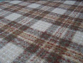Fyvie Sand Natural Wool Tweed Fabric