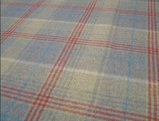 Huntingtower Spruce Natural Wool Tweed Fabric