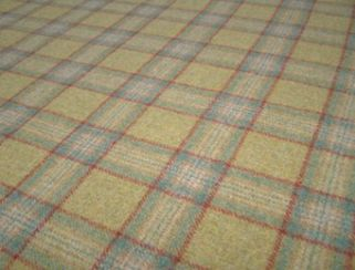 Dornoch Spruce Natural Wool Tweed Fabric