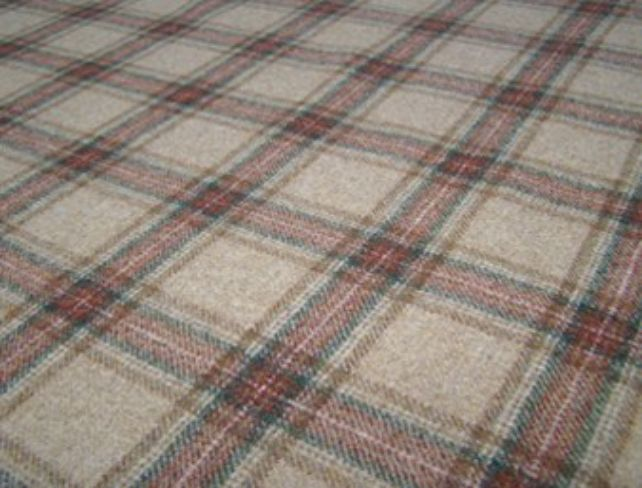 Dornoch Toffee Natural Wool Tweed Fabric