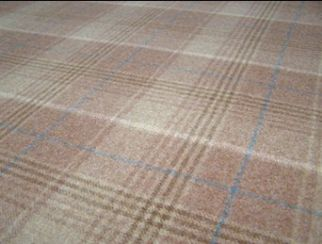 Huntingtower Toffee Natural Wool Tweed Fabric