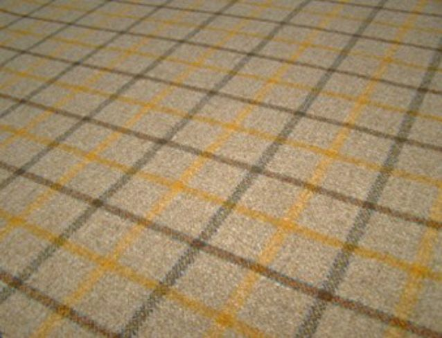 Balvaird Wheat Natural Wool Tweed Fabric
