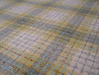 Fyvie Wheat Natural Wool Tweed Fabric