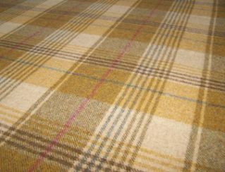 Huntingtower Wheat Natural Wool Tweed Fabric