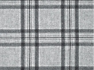 Aspen Grey Natural Wool Tweed Fabric