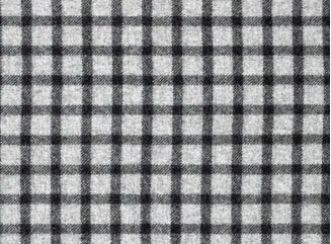 Baniff Dark Grey Natural Wool Tweed Fabric