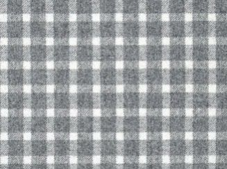 Baniff Light Grey Natural Wool Tweed Fabric