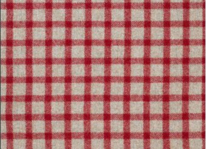 Baniff Red and Natural Wool Tweed Fabric