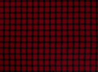 Baniff Red and Black Natural Wool Tweed Fabric