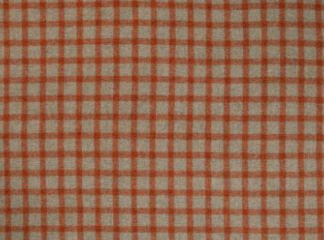 Baniff Terracotta Natural Wool Tweed Fabric
