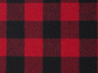 Buffalo Red Natural Wool Tweed Fabric