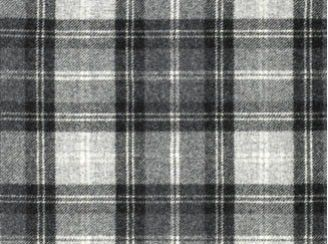 Fernie Grey Natural Wool Tweed Fabric