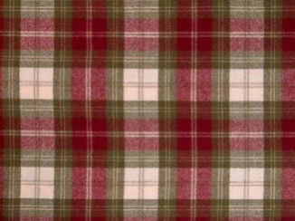 Fernie Red Natural Wool Tweed Fabric