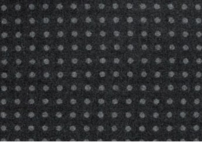 Spot Grey Natural Wool Tweed Fabric