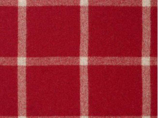 Massif Red and Natural Wool Tweed Fabric