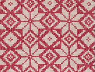 Snowflake Red Natural Wool Tweed Fabric