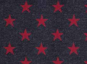 Silver Star Red Natural Wool Tweed Fabric