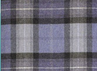 Skye Dark Lavender Natural Wool Tweed Fabric
