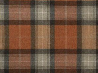Skye Dark Terracotta Natural Wool Tweed Fabric